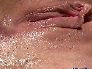 Lezdom pussylicking and anallyfingering sub