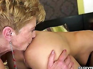 Denise Sky and Malya Old Young Lesbian Love - 5..
