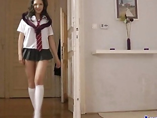 English MILF fingers schoolgirls butt - 8 min HD