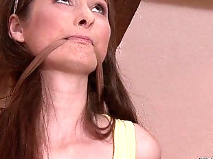 Tied up girl is used by his lesbian mom - 6 min HD
