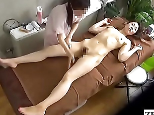 JAV CFNF lesbian massage for married woman..