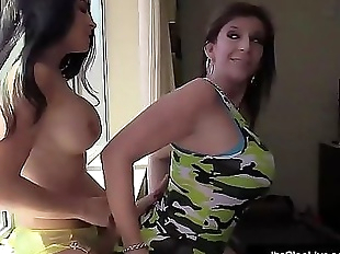Fit Brunette Its Cleo Tongue Fucks With Milf..