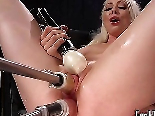 Blonde spreads legs for pussy and anal toying 10..