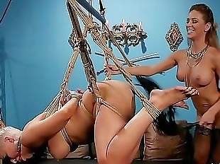 Group lesbian ass whipping in bondage 5 min 720p